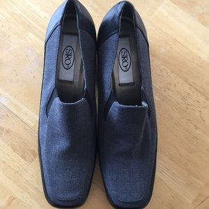 New SRO Dark Grey/Black Fabric and Leather Loafer